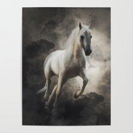 Arabian Horse (Digital Drawing) Poster