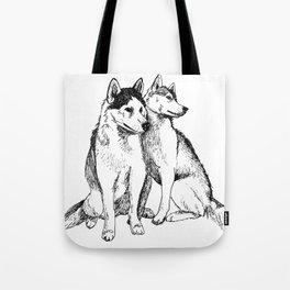 Siberian Husky Pair Tote Bag