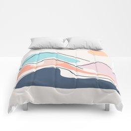 Minimalistic Landscape III Comforters