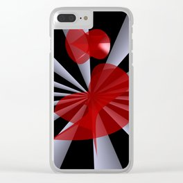 red white black -19- Clear iPhone Case