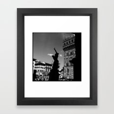 statue Framed Art Print