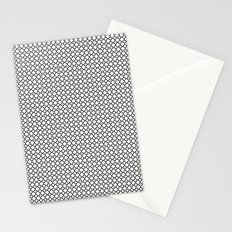 Quatrefoil Black and White Stationery Cards