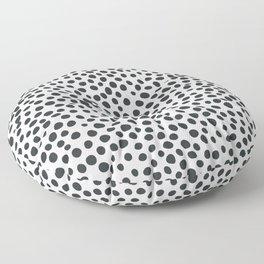 Black and White Animal Spots Floor Pillow