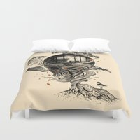 facebook Duvet Covers featuring Lost Translation by nicebleed