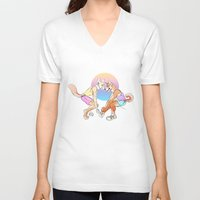 sport V-neck T-shirts featuring Sport Shibe by furious-teapot