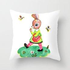Rebecca Rabbit as Francoise's Jeanne-Marie Throw Pillow