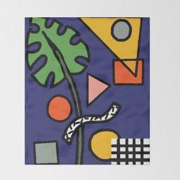 Geometric Monstera Jam Throw Blanket