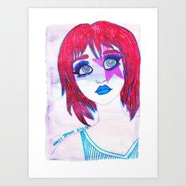 Redhead Star Girl Art Print