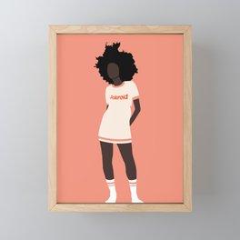 All in pink Framed Mini Art Print
