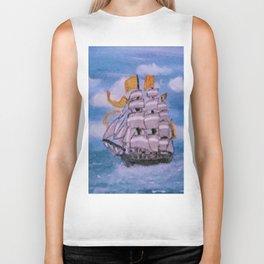 Ship at Sea Biker Tank