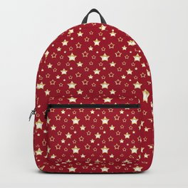 Gold stars on a red background. Backpack