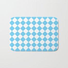 Light Blue Diamond Pattern Bath Mat
