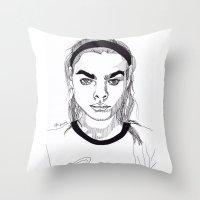 bambi Throw Pillows featuring Bambi by ☿ cactei ☿
