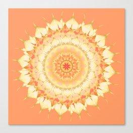 Delicate Mandala orange Canvas Print
