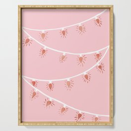 Rose gold Christmas lights Serving Tray
