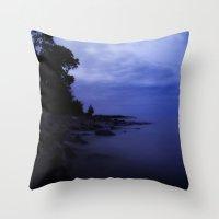 ezra koenig Throw Pillows featuring When the night falls  by UtArt