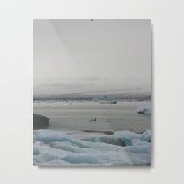 Moody icebergs Metal Print