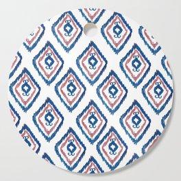 Rugged Royal - aztec watercolour pattern Cutting Board