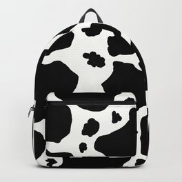black and white animal print cow spots Backpack