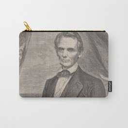Vintage Abraham Lincoln Illustrative Portrait (1860) Carry-All Pouch