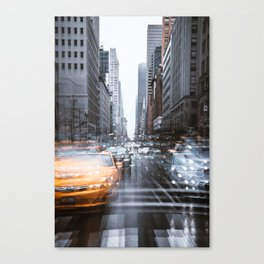 Streets as grey as my mood Canvas Print