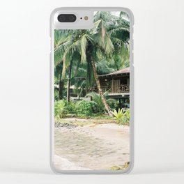 The beach house   Panama travel photography   At the jungle Clear iPhone Case