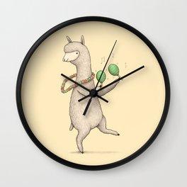Alpaca on Maracas Wall Clock