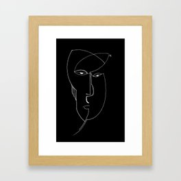 Negative Portraits, 4. Framed Art Print
