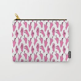 piggy pink swipers on www.white Carry-All Pouch
