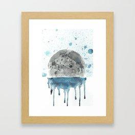 Blue Series #5 - LUNER Framed Art Print