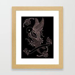 L'hirondelle Framed Art Print
