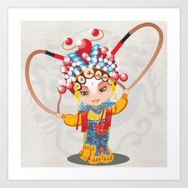 Beijing Opera Character HuSanNiang Art Print