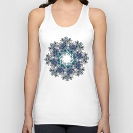 Indigo Bloom Portuguese Tiles – Braga Unisex Tank Top