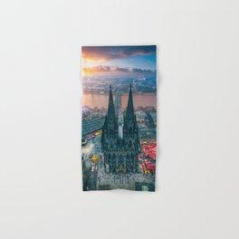 Sunset at the Rhine Hand & Bath Towel