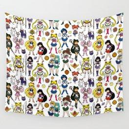 Kawaii Sailor Senshi Doodle Wall Tapestry