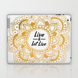 Live And Let Live Mandala Laptop & iPad Skin
