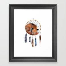 Fox Dreamcatcher Framed Art Print