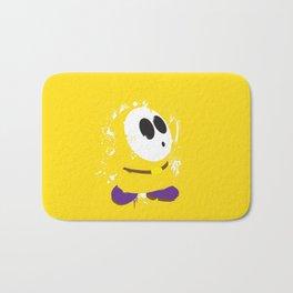 Yellow Shy Guy Splattery Design Bath Mat