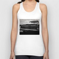 kerouac Tank Tops featuring Shiny Car in the Night by Bella Blue Photography