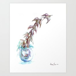 Like a Fish Out of Water Art Print