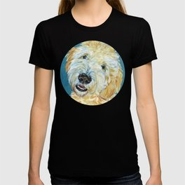 Stanley the Goldendoodle Dog Portrait T-shirt
