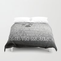 monroe Duvet Covers featuring Monroe by CATHERINE DONOHUE