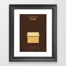 No233 My Seven minimal movie poster Framed Art Print