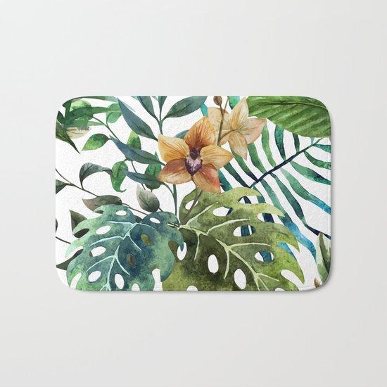 Tropical Floral Pattern 03 Bath Mat