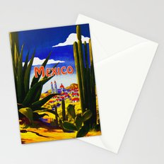 Vintage Mexico Village Travel Stationery Cards
