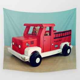 Toy Fire Truck Wall Tapestry