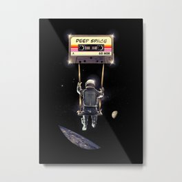 Deep Space Mix Tape Metal Print