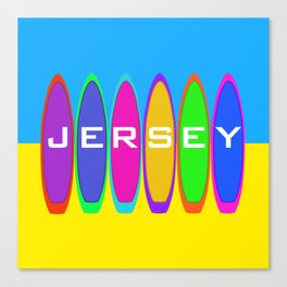 Jersey Surfboards on the Beach Canvas Print