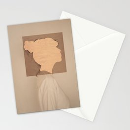 Paper portrait Stationery Cards