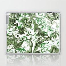 green and white digital handmade pattern Laptop & iPad Skin